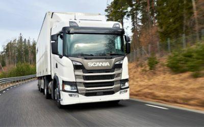 Erster E-LKW von Scania fährt für Bona