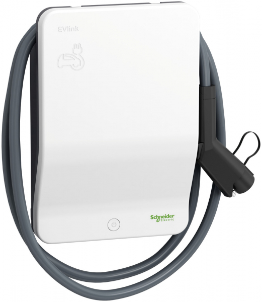 Schneider Electric EVlink Wallbox EVH1S7P0A (7,4 kW) mit Typ 1-Ladekabel